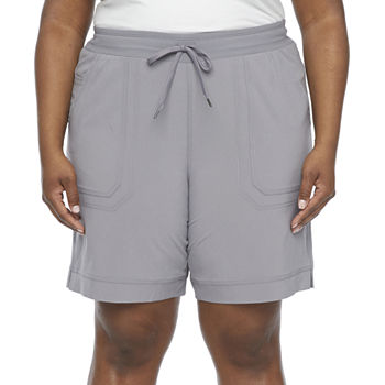 "St. John's Bay Womens Mid Rise 9"" Bermuda Short-Plus"