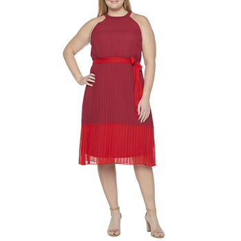 Studio 1-Plus Sleeveless Fit & Flare Dress