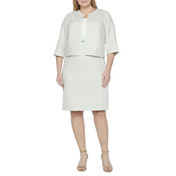 Studio 1-Plus 3/4 Sleeve Jacket Dress