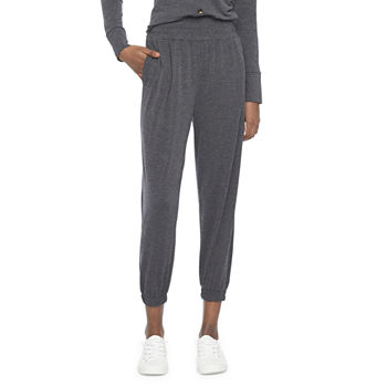 by&by Womens Juniors Mid Rise Jogger Pant