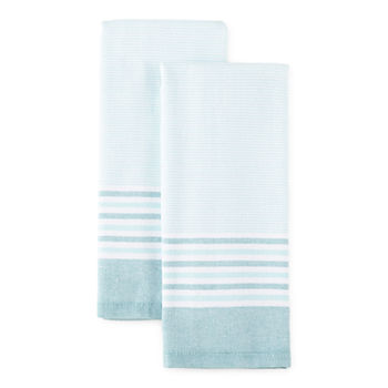 Cooks Haru Stripe Dual Purpose 2-pc Kitchen Towel