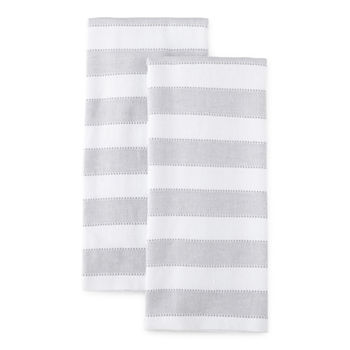 Chambray Stripe Dual Purpose 2-pc Kitchen Towel