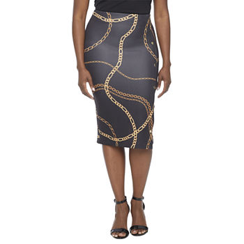 Bold Elements Womens Pencil Skirt