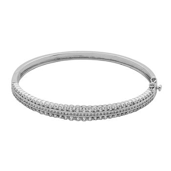 DiamonArt® Cubic Zirconia Sterling Silver Bangle