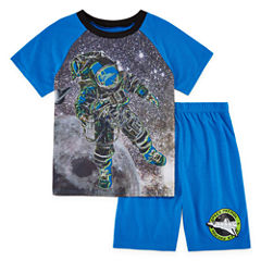 4D 2-pc. Space Short Sleeve Kids Pajama Set-Boys