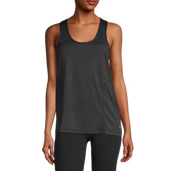 Xersion Womens Scoop Neck Sleeveless Tank Top Petite