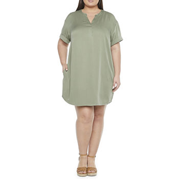 a.n.a-Plus Short Sleeve Shift Dress