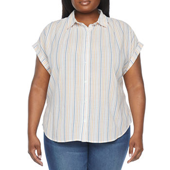 a.n.a-Plus Womens Short Sleeve Tunic Top