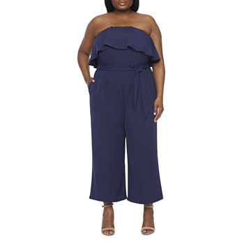 Worthington Sleeveless Jumpsuit-Plus