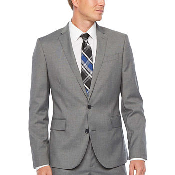 JF J. Ferrar Ultra Comfort Medium Gray Super Slim Fit Suit Separates