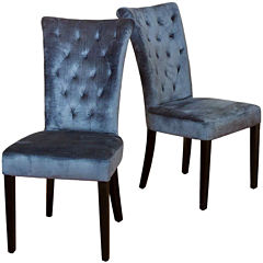 Ashlin Set of 2 Tufted Velvet Dining Chairs