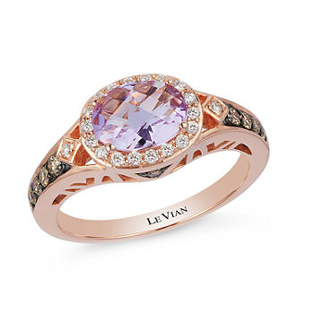 7b6e521d0 LIMITED QUANTITIES Le Vian Grand Sample Sale™ Grape Amethyst™, Chocolate  Diamonds®, & Vanilla Diamonds® Ring set in 14K Strawberry Gold®
