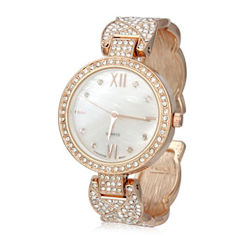 Mixit Womens Rose Goldtone Bangle Watch-Pt7147rg
