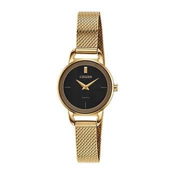 Citizen Quartz Womens Gold Tone Stainless Steel Bracelet Watch - Ez7002-54e
