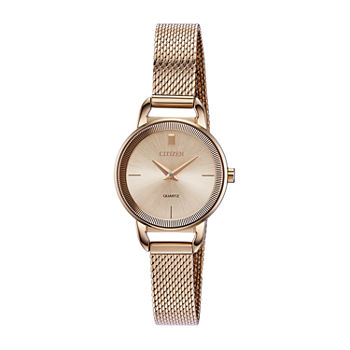 Citizen Quartz Womens Rose Goldtone Stainless Steel Bracelet Watch - Ez7003-51x