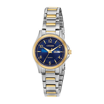 Citizen Quartz Womens Two Tone Bracelet Watch - Eq0595-55l
