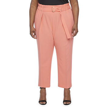 Worthington-Plus Womens Straight Pull-On Pants