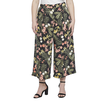 Liz Claiborne Womens Wide Leg Workwear Pant-Plus