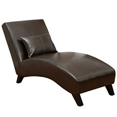 Wynn Bonded Leather Chaise Lounge