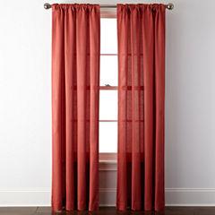 JCPenney HomeTM Rialto Rod Pocket Back Tab Curtain Panel