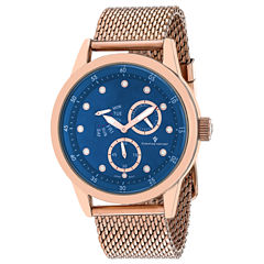 Christian Van Sant Mens Rose Goldtone Bracelet Watch-Cv8715