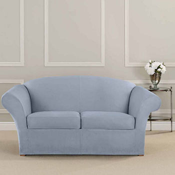 Tremendous Sure Fit Ultimate Heavyweight Stretch Suede Individual Cushion Loveseat Slipcover Creativecarmelina Interior Chair Design Creativecarmelinacom