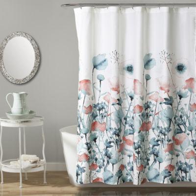 Attrayant Lush Décor Zuri Flora Shower Curtain