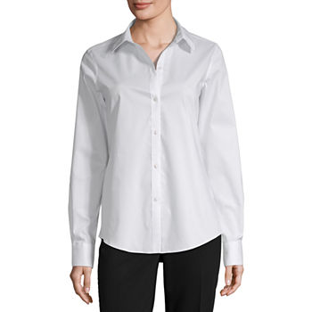 Liz Claiborne Long Sleeve Wrinkle Free Blouse - Tall