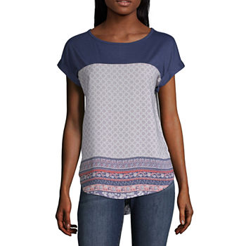 497b6b387c5f0 Blue Tops for Women - JCPenney