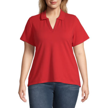Plus Size Red Tops For Women Jcpenney
