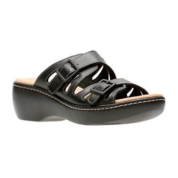 511ae8108b7 Slide Sandals Black Women s Sandals   Flip Flops for Shoes - JCPenney