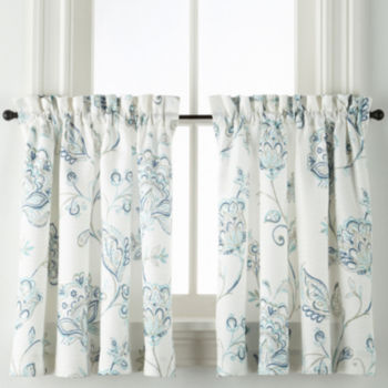 36 Inch Blue Kitchen Curtains For Window Jcpenney