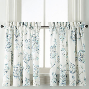 24 Inch Blue Kitchen Curtains For Window