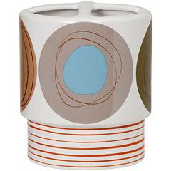 Creative Bath™ Dot Swirl Ceramic Toothbrush Holder
