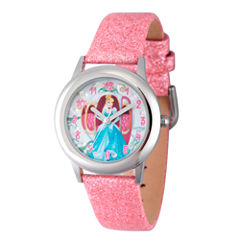 Disney Cinderella Girls Pink Strap Watch-W003260