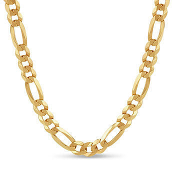 Made In Italy 18K Gold Over Silver Figaro 24 Inch Chain Necklace