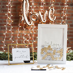 Cathy's Concepts Love Heart Drop Guestbook