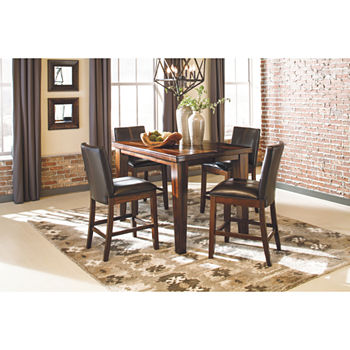 Signature Design By AshleyR Larchmont 5 Piece Counter Height Dining