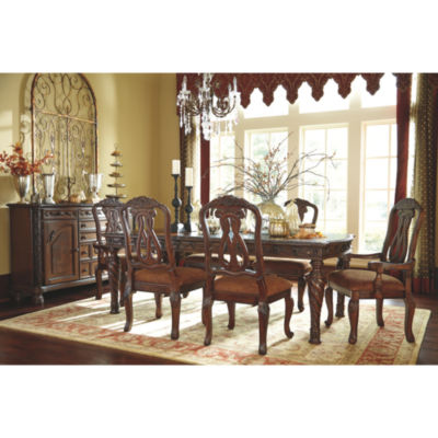 Signature Design By Ashley® North Shore 7 Piece Rectangular Dining