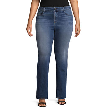 3589474c7ae CLEARANCE Plus Size Jeans for Shops - JCPenney