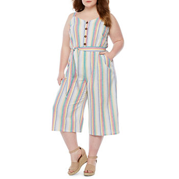 452753d0db1 Plus Size Jumpsuits   Rompers for Women - JCPenney