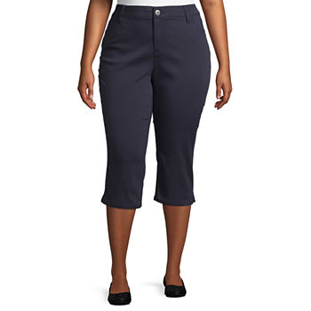 4a3a39caea9 Plus Size Capris   Crops for Women - JCPenney