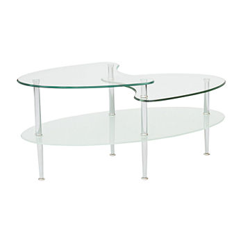 Mid Century Modern Dual Top Glass Coffee Table