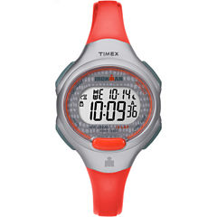 Timex Ironman Essential 10 Womens Orange Strap Watch-Tw5m102009j