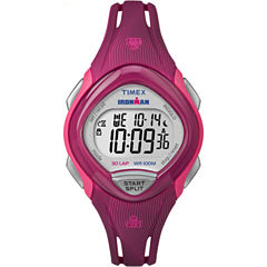 Timex Sleek 30 Womens Pink Strap Watch-Tw5m090009j