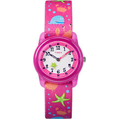 Timex Girls Pink Strap Watch-Tw7c136009j