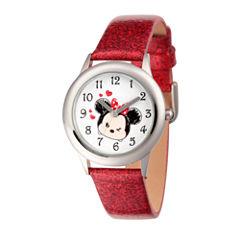 Disney Tsum Tsum Girls Red Strap Watch-Wds000122