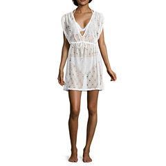Arizona Crochet Swimsuit Cover-Up Dress-Juniors
