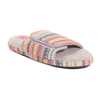 Muk Luks Ansley Jersey Slide Womens Slip-On Slippers