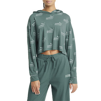 Puma Amplified Womens Crew Neck Long Sleeve Hoodie